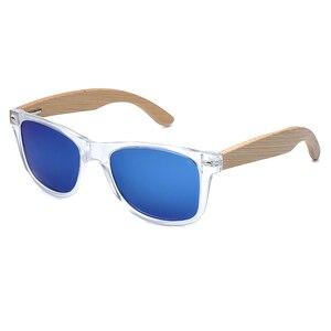 Image 3 - BOBO BIRD Handmade Polarized Sunglasses Women Men With Colorful Lens Transparent Plastic Frame Bamboo Legs Fashion Spectacles