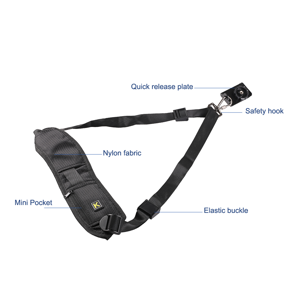 Image 2 - Kaliou Drop shipping Quick Rapid Adjustment Camera Single Shoulder Sling Fastening Belt Strap for canon/nikon/sony DSLR-in Photo Studio Accessories from Consumer Electronics