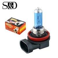H8 35 w lâmpadas halógenas super branco faróis de nevoeiro luz running carro fonte luz estacionamento 12 v alta potência d030|Lâmpadas do farol do carro (halogênio)|Automóveis e motos -