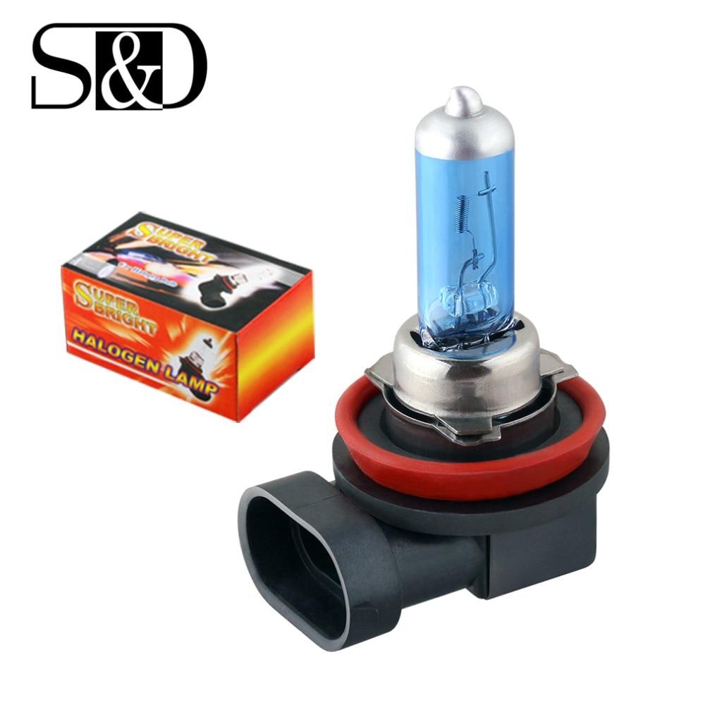 H8 35W Halogen Bulbs Super White Headlights Fog Lamps Light Running Car Light Source Parking 12V High Power D030