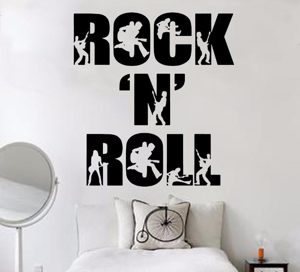 Popular rock n roll stickers buy cheap rock n roll stickers lots from china rock n roll stickers - Rock n roll dekoration ...