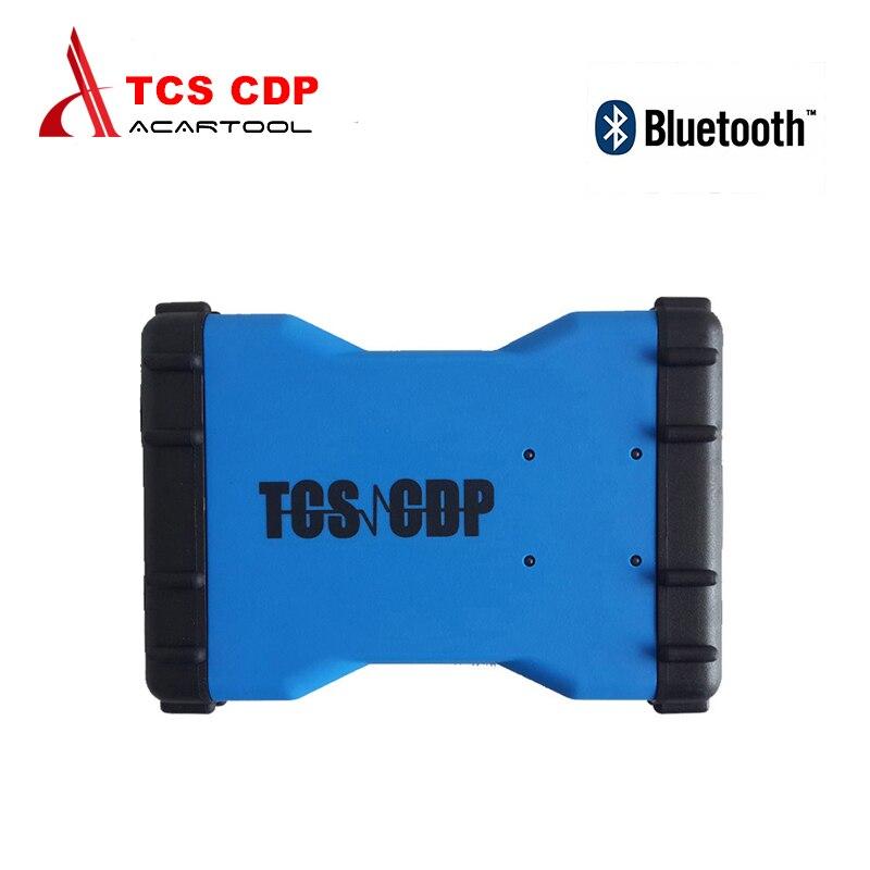 Prix pour 2017 TCS CDP Pro + avec Bluetooth et 2014. R3 Pas keygen Sur CD cdp 3 en 1 voiture Camion Générique outil De Diagnostic tcs cdp Livraison Gratuite