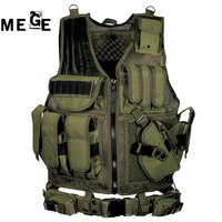 MEGE Patrol SWAT Vest, Tactical Paintball Wargame Equipment, Military Vest Army Hunting Molle Airsoft Vest Outdoor Body Armor
