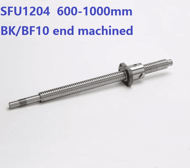 1pcs RM1204 600mm/700mm/800mm/900mm/1000mm ball screw guide way with end machined+ 1pcs SFU1204 single ball nut for CNC 4you bs903 094 double way ball end 7 8 sbs 0508 01