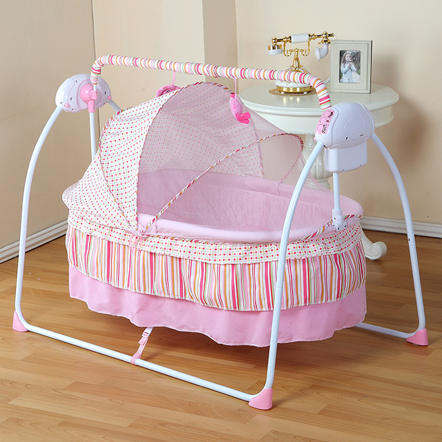 Baby Cradle Newborn Crib Bed Basket Small Shaker Electric Bouncer Swing  Automatic Rocking Chair Bed Basket
