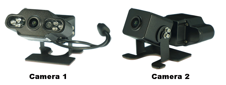 New Arrived 2CH MDVR Kit With 1pcs Dual Lens Car Camera