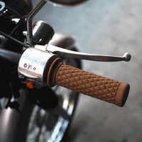 Accessoires Auto Franchise 2 pièces 7/8 22mm guidon en caoutchouc poignée de main extrémité de la barre pour moto vélo vélo café Racer guidon moto #0529