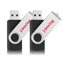 2PCS  J-boxing USB Flash Drive 64GB 32GB 16GB 8GB 4GB Swivel 2.0 Thumb Metal Rotating Design Pendrive Memory stick