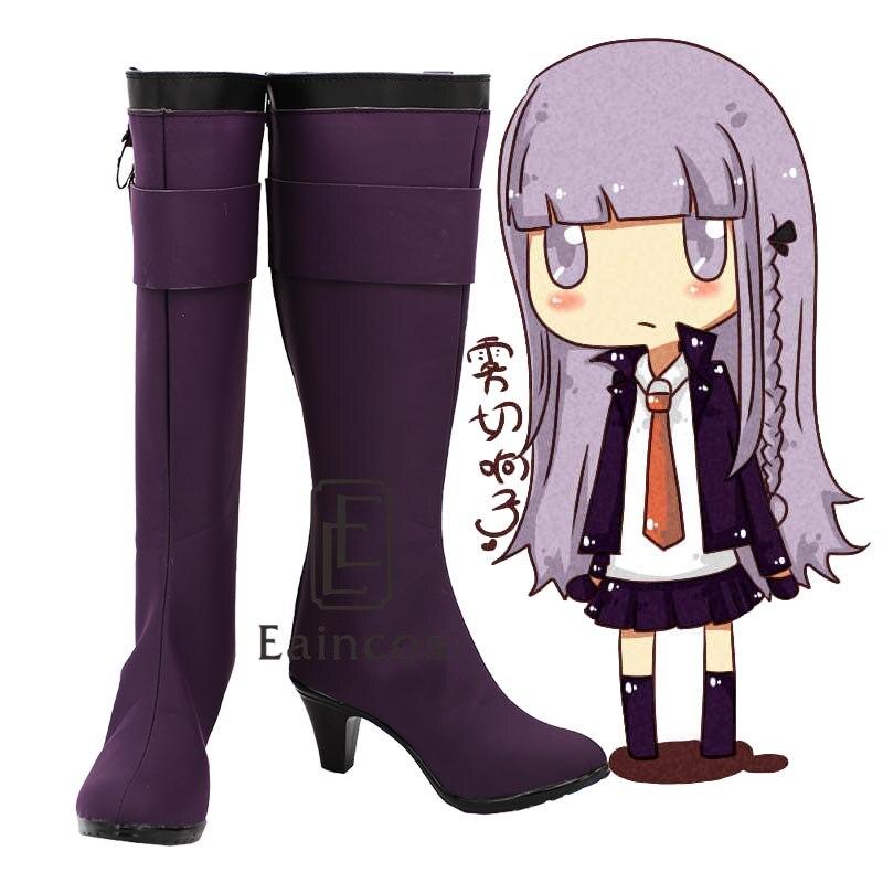 font b Anime b font Danganronpa Kirigiri Kyouko Purple Boots font b Cosplay b font