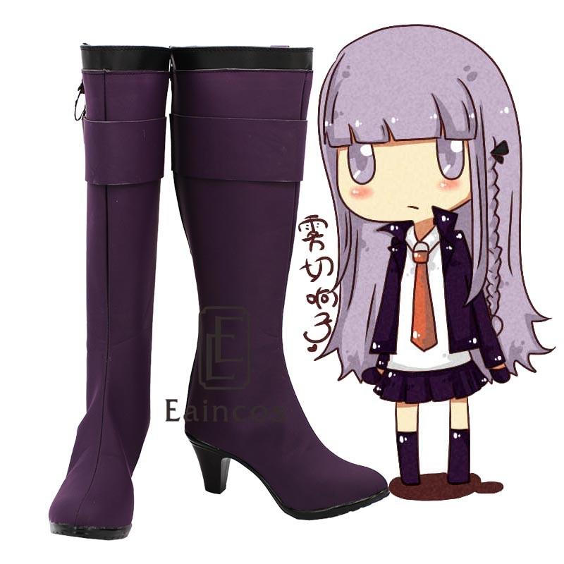 Anime Danganronpa Kirigiri Kyouko Purple Boots Cosplay Party Shoes Customized Size