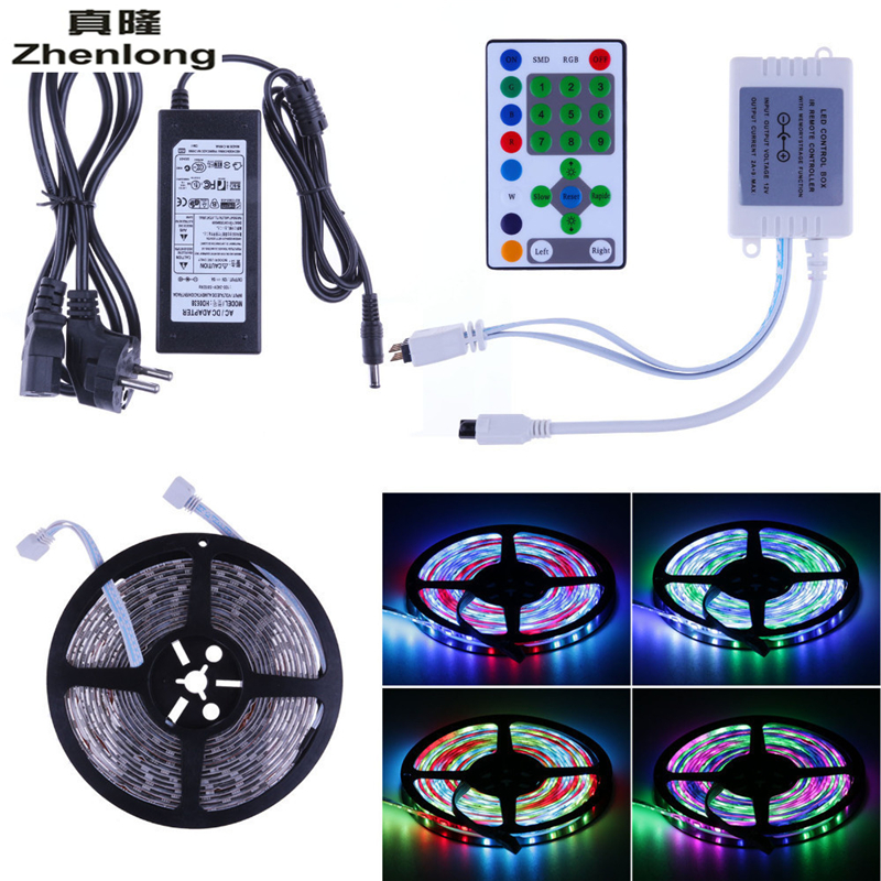 5M 5050 LED RGB Strip Digital Horse Race Dream Magic Color Light Waterproof + IR Controller + 6A Transformer 5m dc12v 5050smd 150leds ldp6803 ic magic dream color ip66 silicone waterproof flex led strip 133 programs rf remote controller