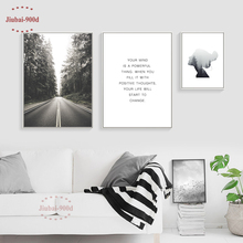 900D Nordic Posters And Prints Canvas Painting Poster, Forest Landscape Wall Pictures for Home Decoration Decor NOR040