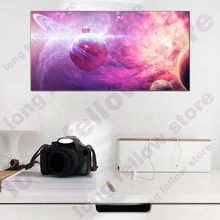 Abstract Landscape Picture Wall Art for Game Room Lobby Hallway Home Decor Outer Space Poster Print Artwork Large Photo Dropship