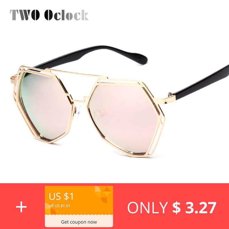 825f6fba98 TWO Oclock Vintage Designer Hexagonal Sunglasses Women Men Retro Driving  Mirror Sun Glasses Female Male oculos
