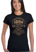 Different Colours High Quality Short Sleeve Women Top Aged To Perfection 1988  Crew Neck T Shirt