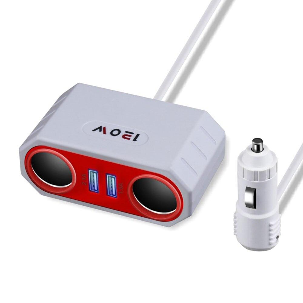 Vehemo прикуриватели розетки Dual USB Автомобильное быстрое зарядное устройство Автомобильный адаптер для зарядного устройства зарядное устройство Универсальный адаптер внутренние части - Название цвета: White