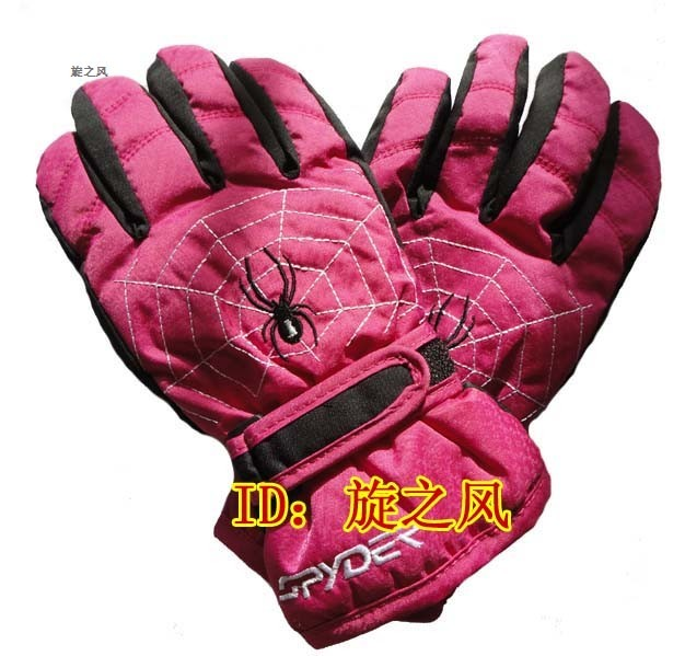 Spyderco 009 child ski gloves thermal gloves cotton gloves child gloves rose pink