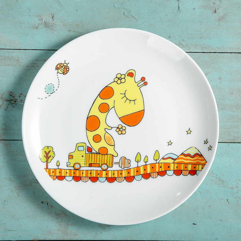 Aliexpress.com  Buy Western style 8 inches Ceramic Dinnerware Cartoon Bone Porcelain Dishes For Restaurant Round Lovely Children Sushi Plate Dish from ... & Aliexpress.com : Buy Western style 8 inches Ceramic Dinnerware ...