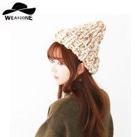 2017 New Fashion Winter Woman S Hats Knitting Skullies Thick Wool Beanies Knitted Caps Warm Cute