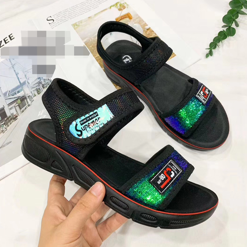 Fashion Bling Summer Sandals Shoes Woman Sequin Wedge Sandals Female 2019 Women Comfy Platform Sandal Shoes Ladies Summer ShoeFashion Bling Summer Sandals Shoes Woman Sequin Wedge Sandals Female 2019 Women Comfy Platform Sandal Shoes Ladies Summer Shoe