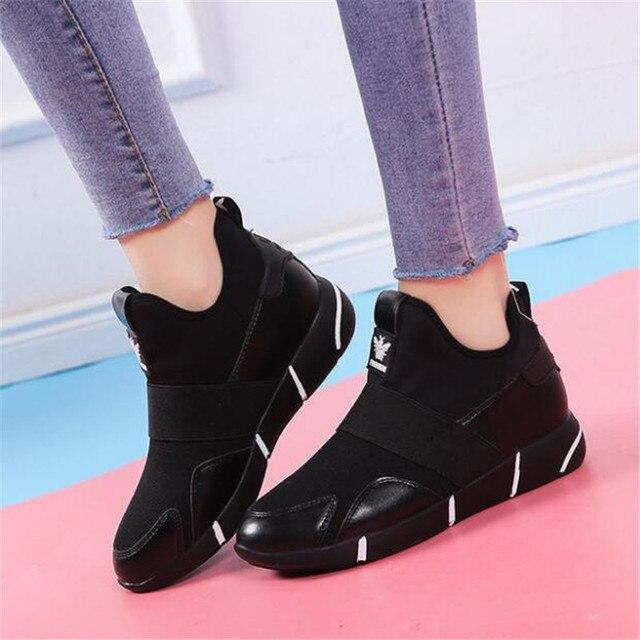 2019 Femmes Sneakers chaussures vulcanisées Dames chaussures décontractées Respirant Marche chaussures plates en maille grande taille chaussures couple size35-40 2