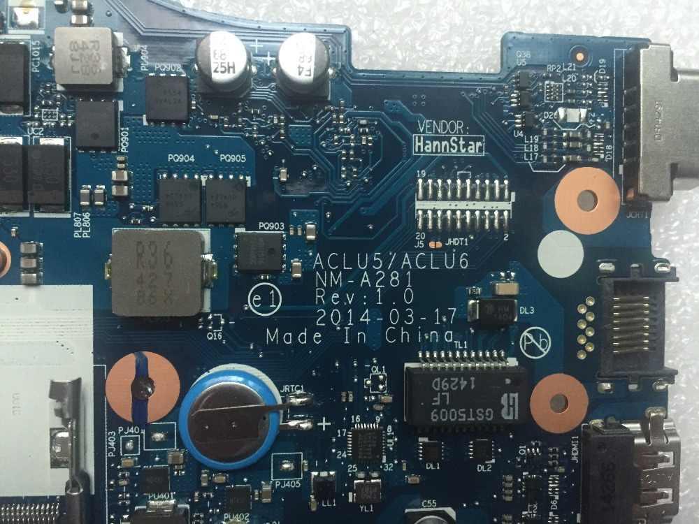 レノボ G50-45 ノートパソコンのマザーボード ACLU5/ACLU6 NM-A281 マザーボード AMD の CPU (Amd のビデオカード) マザーボードテスト 100%