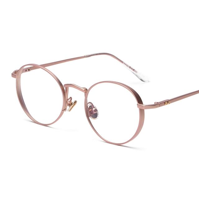 a7b999632307 Contain Rose Gold!Retro Round Eyewear Frame Men Women Optical Eyeglasses  Computer Glasses Spectacle Frame Oculos H87