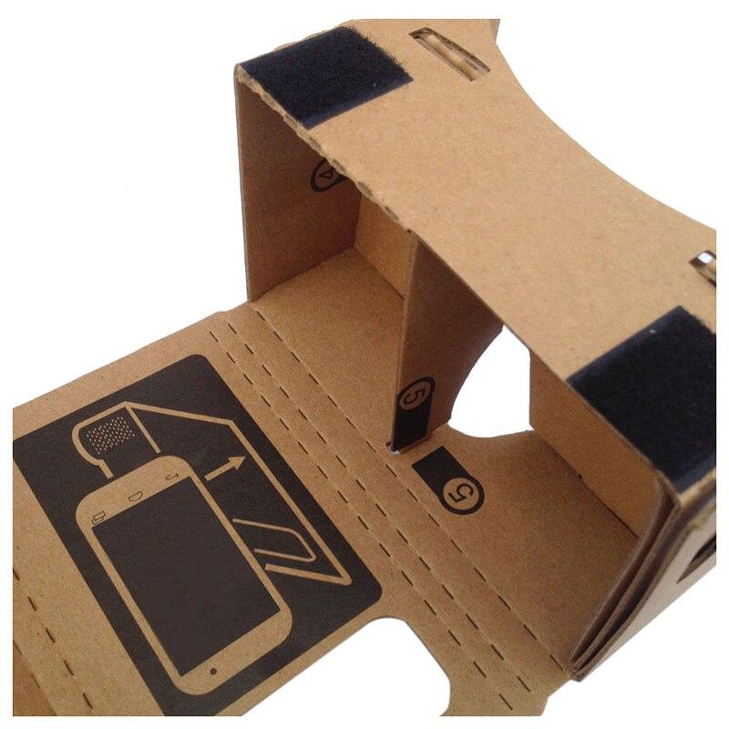 6 inch DIY 3D VR Virtual Reality Glasses Hardboard For Google Cardboard