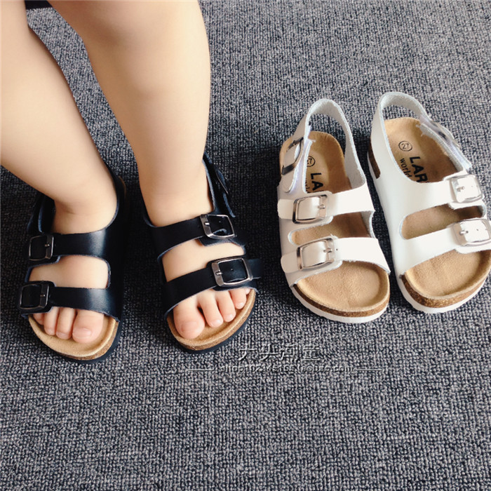 3e6f8ecb8a0 New 2015 Summer Kids Shoes Boys and Girls Sandals Brand BIRKENSTOCK Cork Sandals  Boys Shoes Children Beach Sandals (2 8 Years)-in Sandals from Mother   Kids  ...