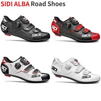 77fc1570f 2019 zapatos de carretera Sidi amanecer zapatos de carretera de carbono de ventilación  zapatos de bloqueo de carretera zapatos de ciclismo