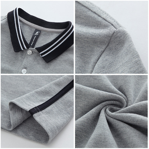 Image 5 - بايونير كامب جديد قصير قميص بولو الرجال ماركة الملابس بسيطة عادية المرقعة polos الذكور جودة عالية 100% القطن رمادي ACP703084