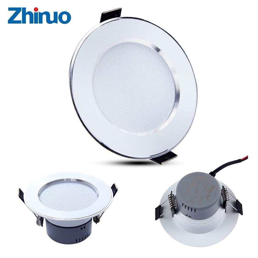 Downlight 4 ks / lot LED DownLights 3W zapuštěné 220V LED bodové světlo dekorace stropní svítidlo Home Indoor Lighting Decor LED světla