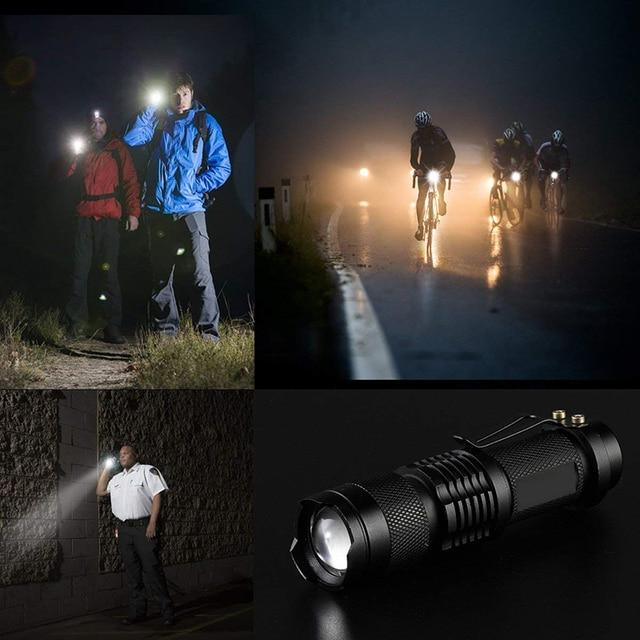 7W 3000LM 3 Mode Bicycle Light Q5 Led Cycling Front Light Bike Lights Lamp Torch Waterproof Zoom Bike Flashlight, Use 14500 2