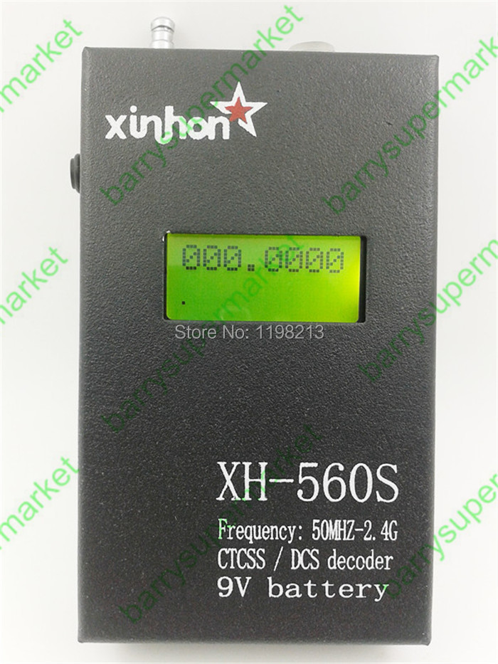 New Full Metal Case Walkie Talkie XH-560S Frequency Meter with CTCSS/DCS Decorder Frequency Counter Tester For Two Way Radio