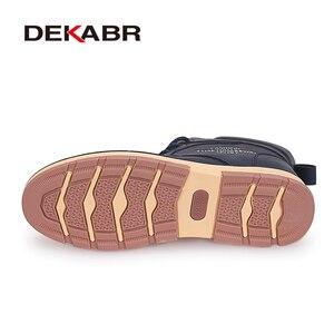 Image 4 - DEKABR 2020 أحدث الخريف الشتاء الكاحل الأحذية الدافئة جودة بولي PU جلد الرجال أحذية العمل غير رسمية خمر نمط الدانتيل يصل الرجال الأحذية