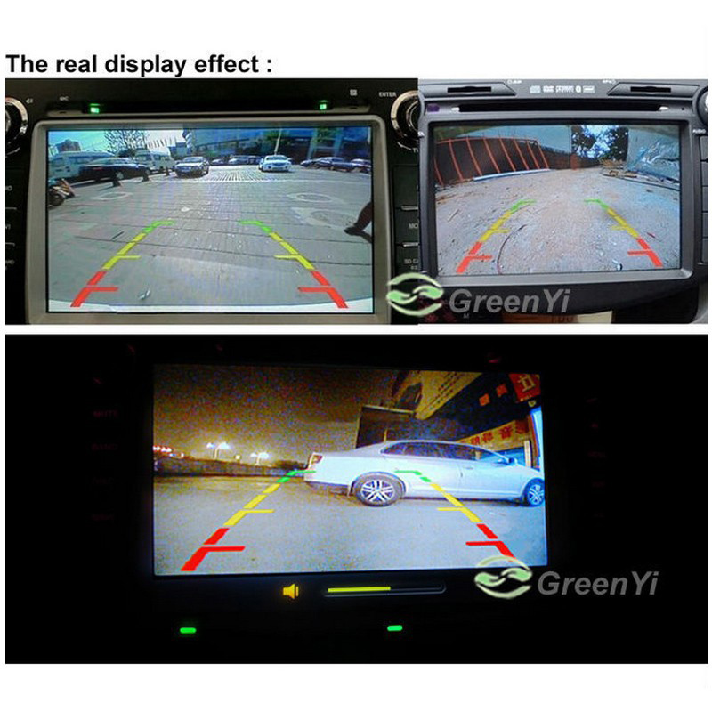 Vehicle Camer Mini Wide Viewing Angle Waterproof Reverse Backup CCD Car Front / Rear View Camera 480 TV Lines 8 LED Night Vision