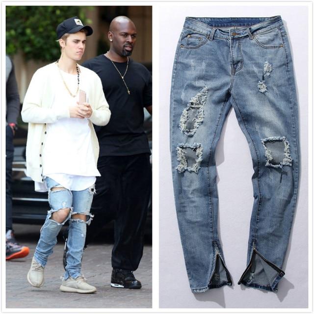 Hip Hop Fashion Pants Cool Mens Urban Clothing Jumpsuit Men S Zipper