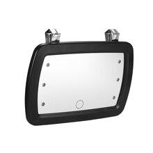 Altı LED araba ışıkları Güneşlik Ayna Makyaj Güneş-gölgeleme Kozmetik Ayna makyaj masası aynası Otomobil makyaj aynası