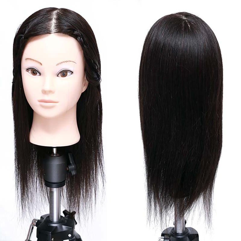 Wholesale Mannequin Training Head Professhional Hairstyling 100% Human Hair Training Mannequin Head With Nature Black Hair