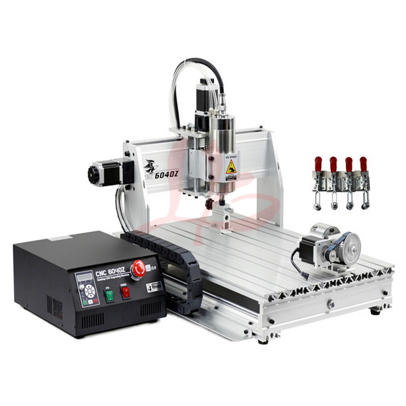 Free Shipping 4 Axis USB Milling Machine CNC 6040 Mach3 manual Router with 1500W VFD spindle and auto-checking tool, USB port cnc milling machine 4 axis cnc router 6040 with 1 5kw spindle usb port cnc 3d engraving machine for wood metal