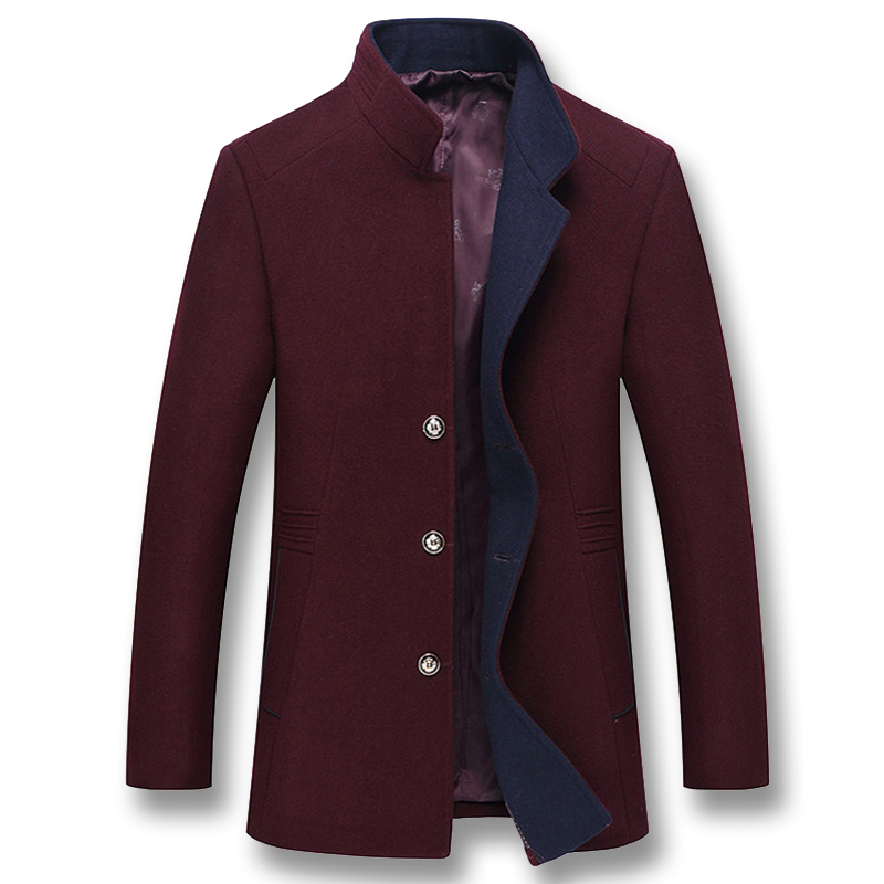 Isurvivor 2019 Men Wool Coats Jackets Hombre Male Casual Fashion Slim Fit Winter Wool Nylon Thick Coats Jackets Outwear Parkas Meticulous Dyeing Processes Jackets & Coats