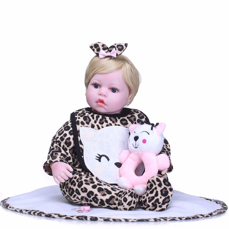 NPK 55cm Silicone Reborn cute Baby Doll Kids Playmate Gift for Girls Bebe Alive Soft Toys for Bouquets Doll Bebes Reborn ToysNPK 55cm Silicone Reborn cute Baby Doll Kids Playmate Gift for Girls Bebe Alive Soft Toys for Bouquets Doll Bebes Reborn Toys