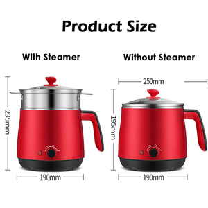 Image 4 - Multi Household Cookers 220V 1.5L Student Dormitory Cooking Noodle Pot Small 600w Electric Skillet 1 2 Person