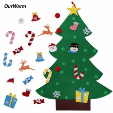 Ourwarm Christmas Gifts for 2018 Kids DIY Felt Tree with Ornaments New Year Decoration Door Wall Hanging
