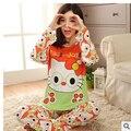 Venta caliente Nueva dama de la moda niñas ropa de dormir pijama con arcos de las mujeres pijama de manga larga pijamas de dibujos animados femenina envío gratis
