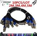 10 pcs/3-pin linha de sinal dmx, (2 m, 3 m, 4 m, 5 m) cabo de led par luzes do palco dmx dj equipamentos 100% novo