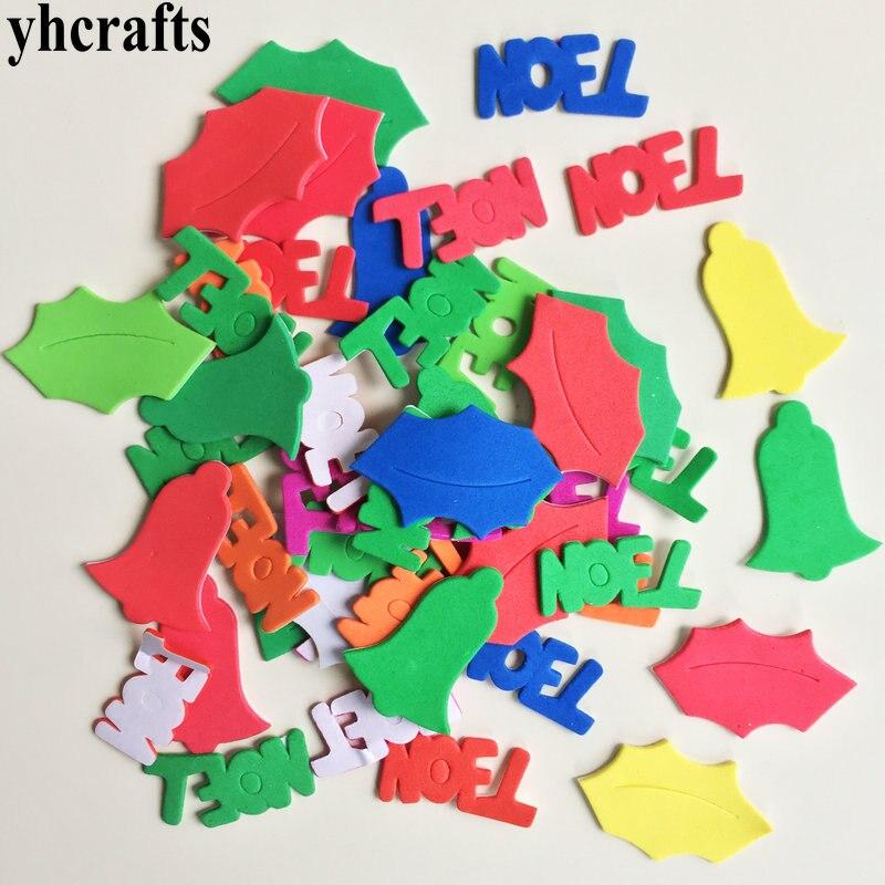 1 пакетов/лот, снежинка, рождественские наклейки из пены для раннего обучения, Обучающие поделки, diy игрушки, детская комната, орнамент, цветная обучающая креативная OEM - Цвет: 47PCS Noel