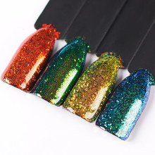 T-TIAO CLUB Chameleon Nail Glitter Powder 1g Art Holo Acrylic Shimmer Dust Chrome Pigment DIY Manicure Accessories