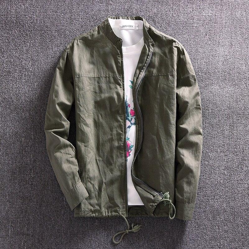 AIBIANOCEL Brand New Spring Fashion Haining Leather Jacket Men Lapel Collar Genuine Leather Jacket Male Coats