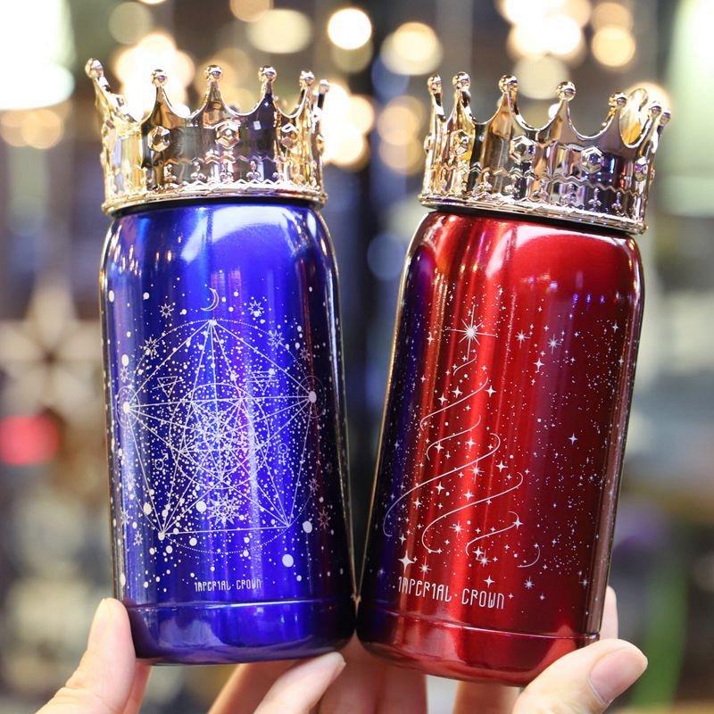OUSSIRRO Theme Crown Theme Kupat e Thermos Cartoon MultiColor Flasks - Kuzhinë, ngrënie dhe bar - Foto 2